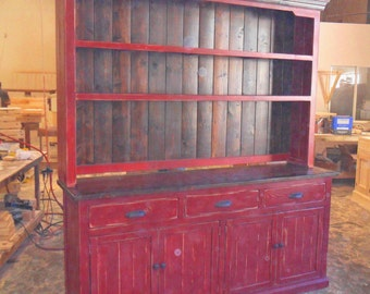 Sideboard, Server, Buffet, Hutch and Buffet, Reclaimed Wood, Vintage, Rustic