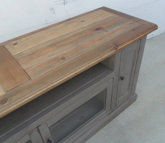Tv Stand Entertainment Center Reclaimed Wood Media Console Etsy