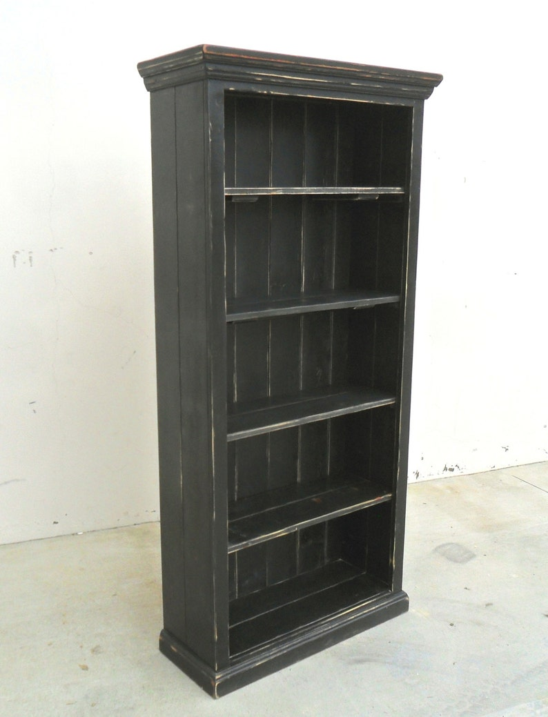 Bookcase Display Cabinet Reclaimed Wood Vintage Rustic