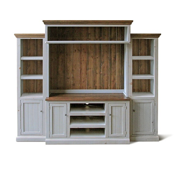 Media Room Storage: Entertainment Center Media Console Home Theater Reclaimed