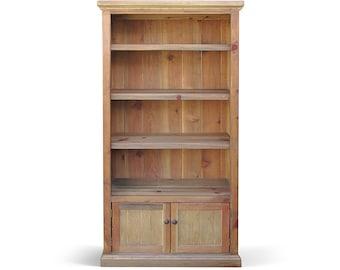 Bookcase, Console Cabinet, Bookshelves, Reclaimed Wood, Farmhouse, Handmade, Rustic