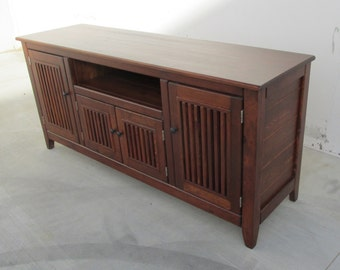 Media Console, TV Stand, Entertainment Center, Reclaimed Wood, Entertainment Console, Handmade, Rustic
