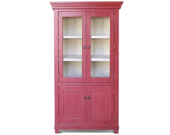 Bookcase, Display Cabinet, China Cabinet, Reclaimed Wood, Farmhouse, Handmade, Rustic
