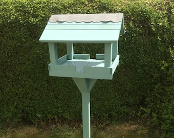 Garden Bird feeder table - Hand made - in Seagrass Colour