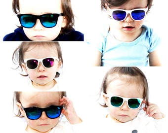 90eb8e071 KD3056 infant baby Toddler 0~2 year old 80s sport mirror Sunglasses Hipster retro  Vintage 80s classic urban Glasses kids children Boys Girls
