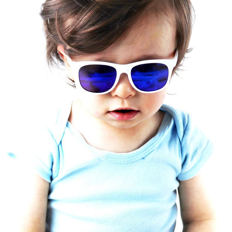 e3e3a5e13d KD3056 infant baby Toddler 0~2 year old 80s sport mirror Sunglasses Hipster  retro Vintage 80s classic urban Glasses kids children Boys Girls