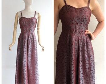 Vintage 1950s Dress 1950s Evening Dress 1950s Etsy