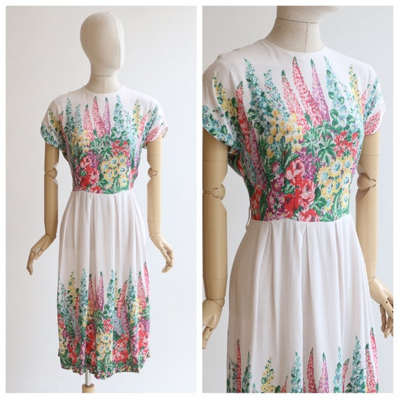Vintage 1940's dress original 1940's cotton dress