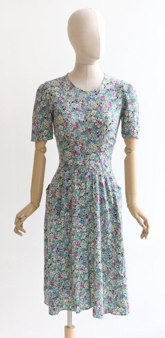 Vintage 1940's dress original 1940's silk dress 1… - image 2