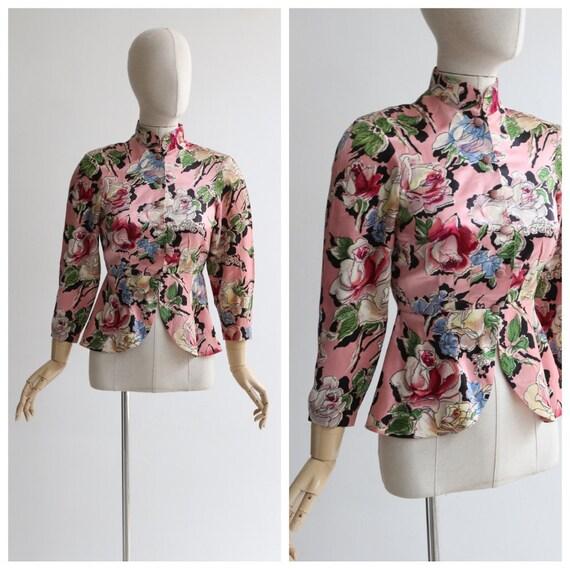 Vintage 1930's blouse vintage 1930's satin floral