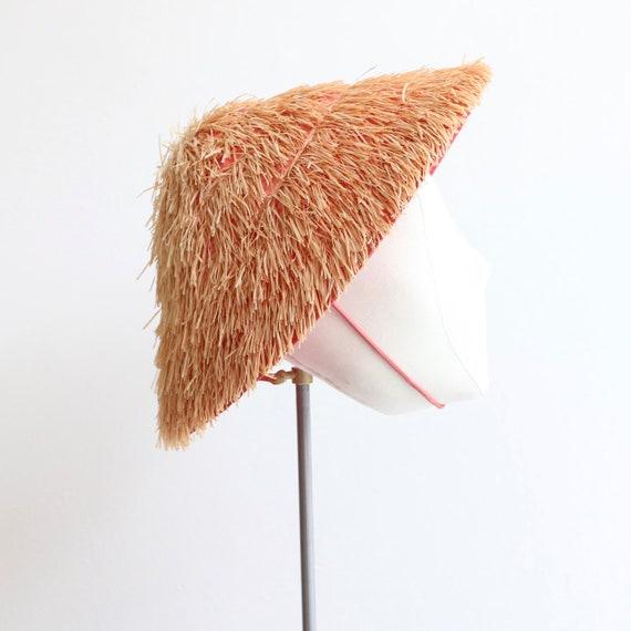 Vintage 1950's sun hat vintage 1950's straw hat or