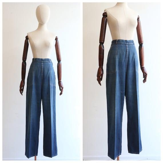 Vintage 1940's jeans vintage 1940's high waisted c
