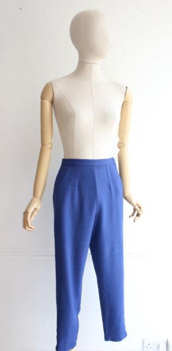 Vintage 1950's trousers 1950's linen trousers peg… - image 4