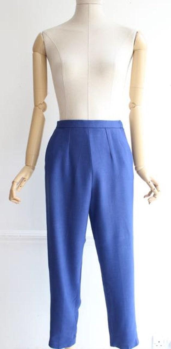 Vintage 1950's trousers 1950's linen trousers peg… - image 3
