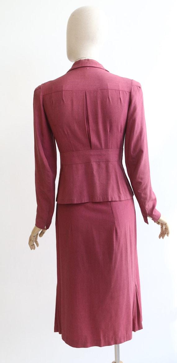 Vintage 1940's suit vintage 1940's skirt suit ori… - image 7