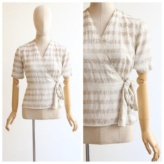 Vintage 1930's blouse vintage 1930's crepe silk la