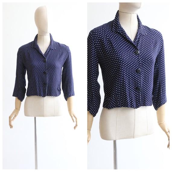 Vintage 1940's blouse vintage 1940's polkadot blou