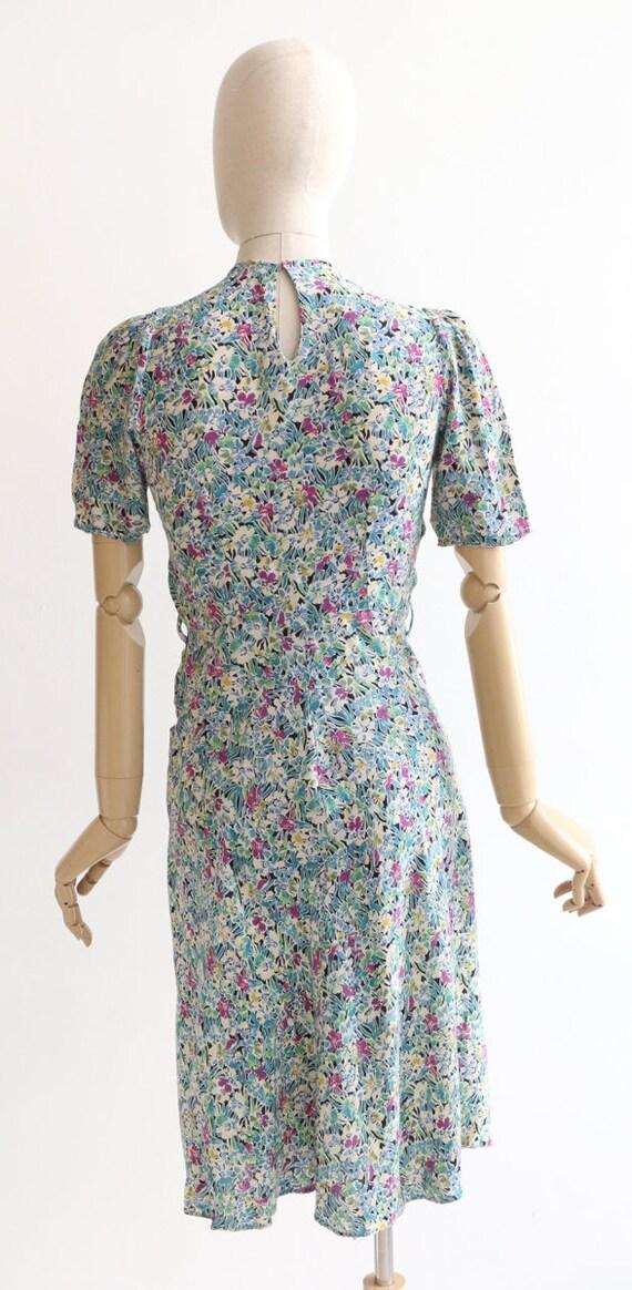 Vintage 1940's dress original 1940's silk dress 1… - image 9