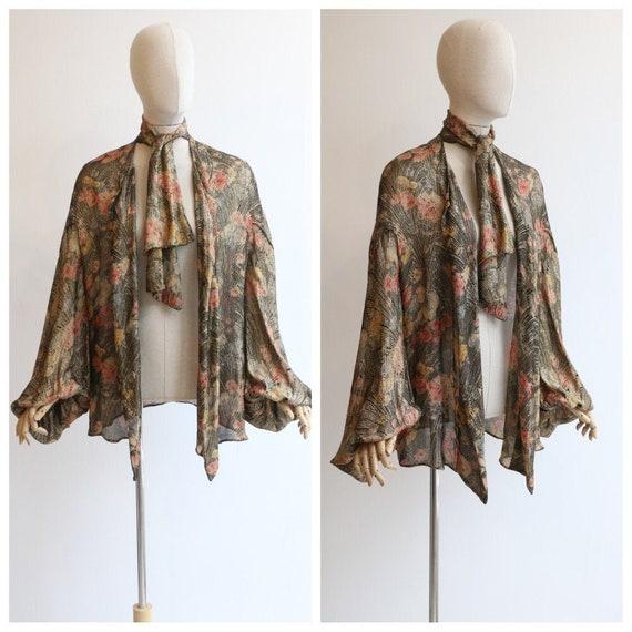 Vintage 1920's lamé jacket vintage 1920s floral la
