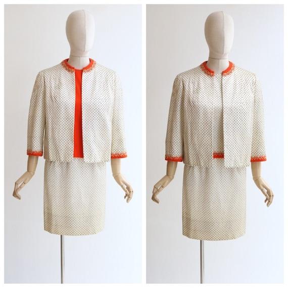 Vintage 1960's Norman Hartnell Suit vintage 1960's