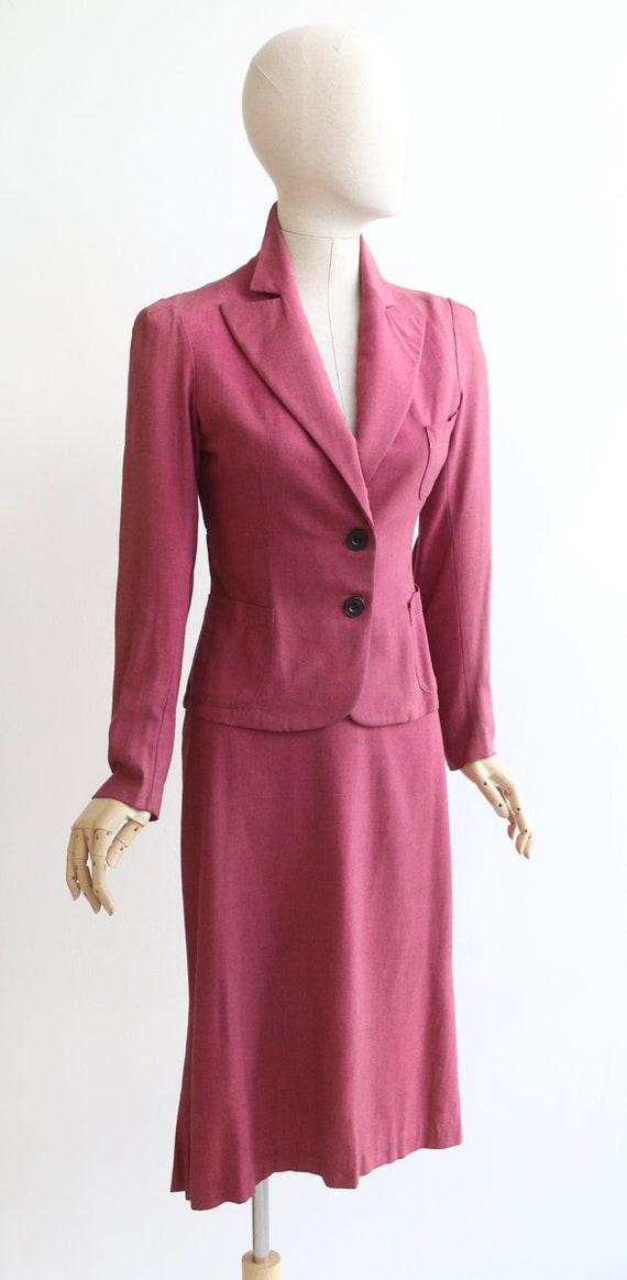 Vintage 1940's suit vintage 1940's skirt suit ori… - image 5