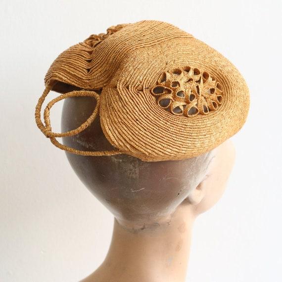 Vintage 1940's calot hat vintage 1940's straw hat