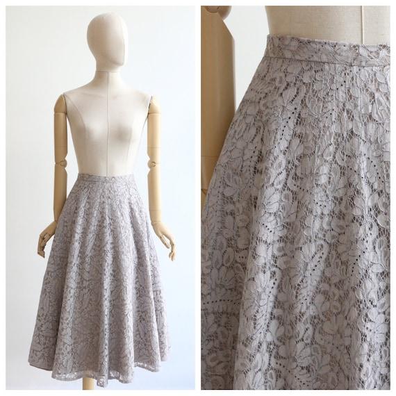 Vintage 1950's skirt vintage 1950's lace skirt ori