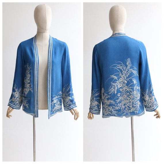 Vintage 1930's silk jacket vintage 1930's silk chi