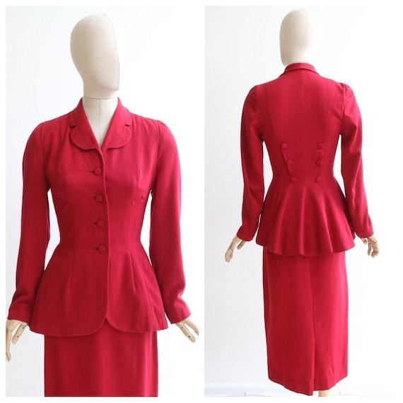 Vintage 1940's suit vintage 1940's red suit vintag