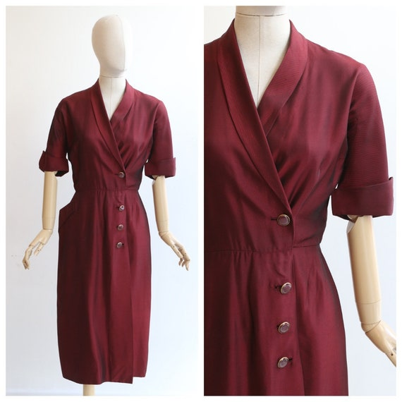 Vintage 1940's dress vintage 1940's red dress orig