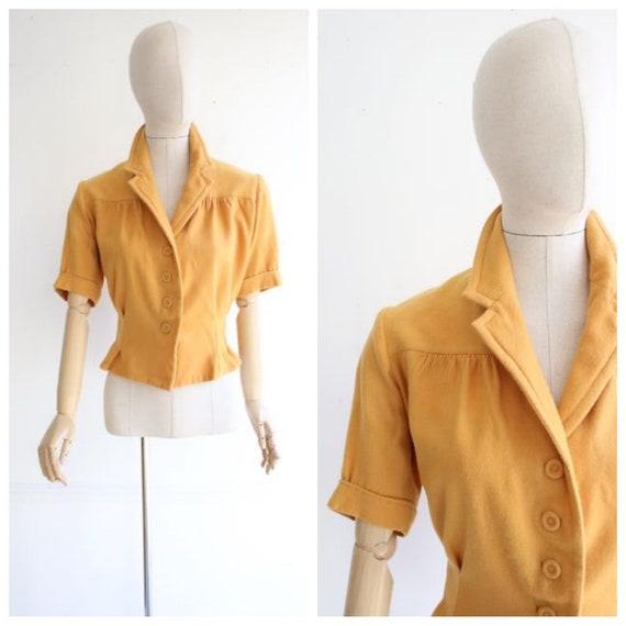 Vintage 1940's Blouse 1940's wool blouse 1940's re
