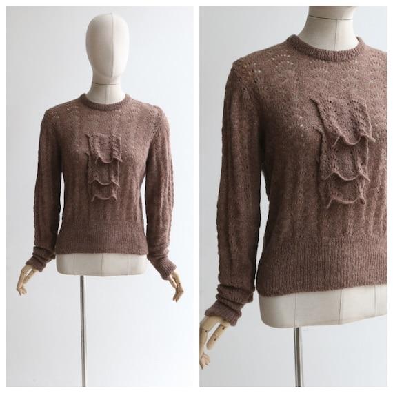 Vintage 1950's jumper vintage 1950's knitted jumpe