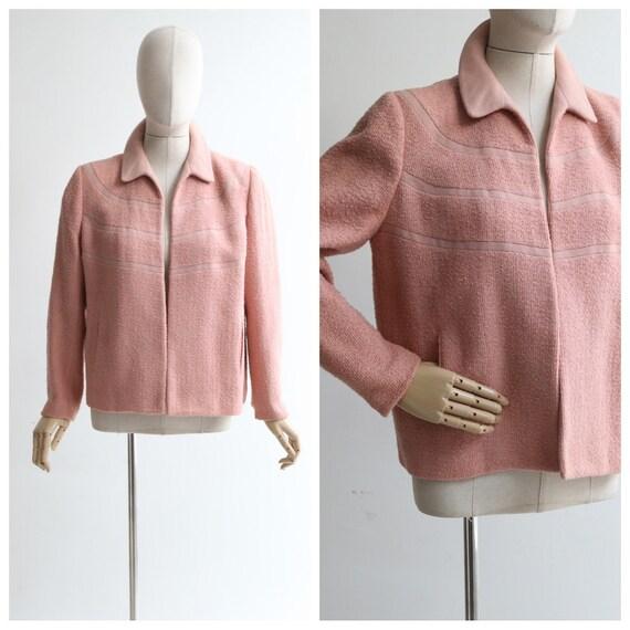 Vintage 1940's jacket vintage 1940's pink bouclé w