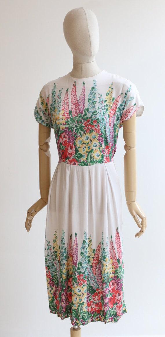 Vintage 1940's dress original 1940's cotton dress… - image 7