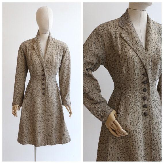 Vintage 1950's coat vintage 1950's gabardine coat