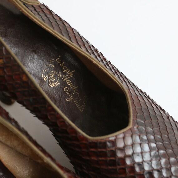 Vintage 1940's platform heels vintage 1940's slin… - image 8
