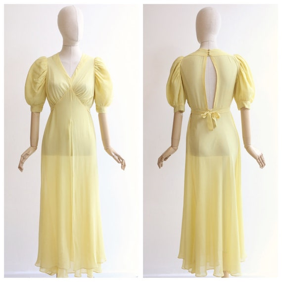 Vintage 1930's dress vintage 1930's silk chiffon d