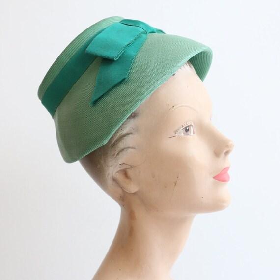 Vintage 1960's hat vintage 1960's green Sunson hat