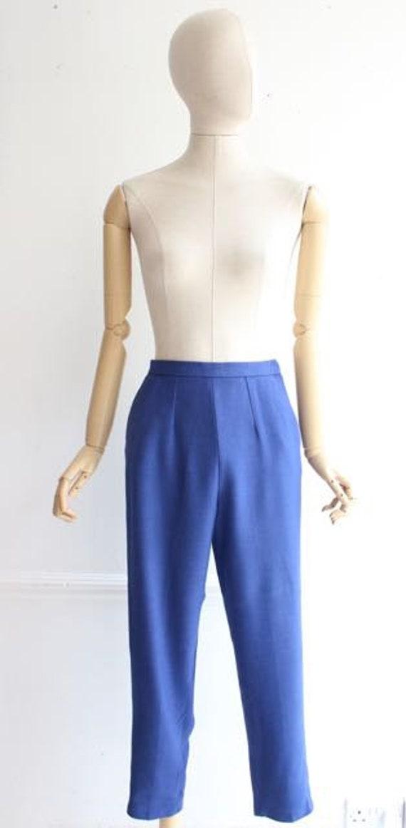 Vintage 1950's trousers 1950's linen trousers peg… - image 2