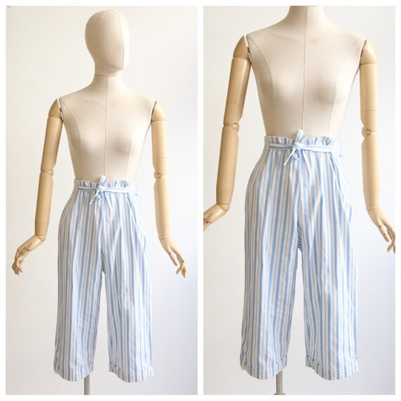 Vintage 1950's Capri pants vintage 1950's high wai