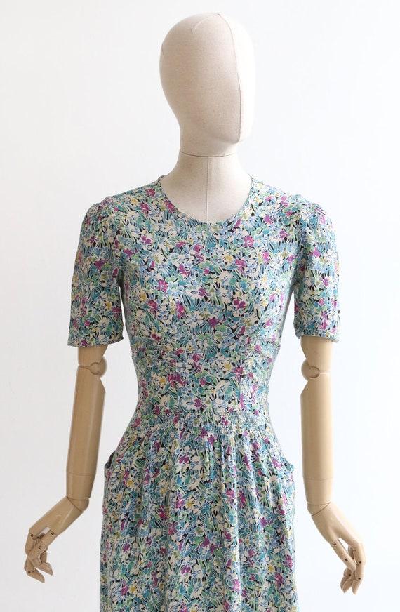 Vintage 1940's dress original 1940's silk dress 1… - image 3