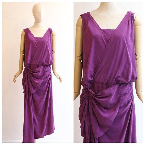 Vintage 1920's dress vintage 1920's silk draped dr