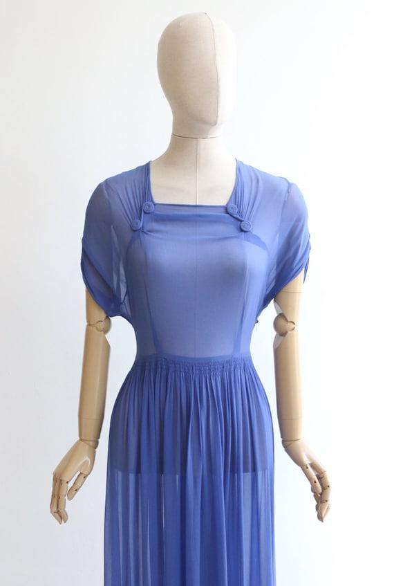 Vintage 1930's dress vintage 1930's silk chiffon … - image 3