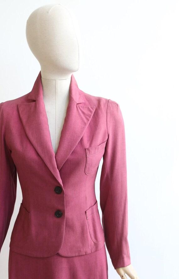 Vintage 1940's suit vintage 1940's skirt suit ori… - image 4