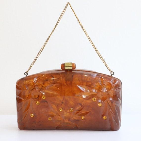 Vintage 1950's lucite bag vintage 1950's lucite pu