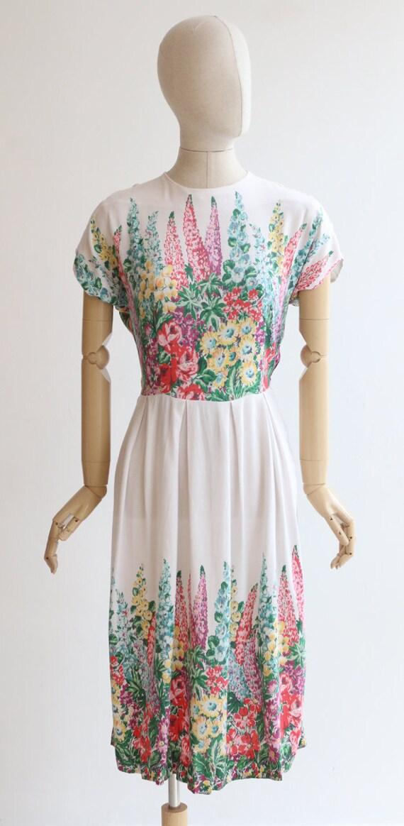 Vintage 1940's dress original 1940's cotton dress… - image 2