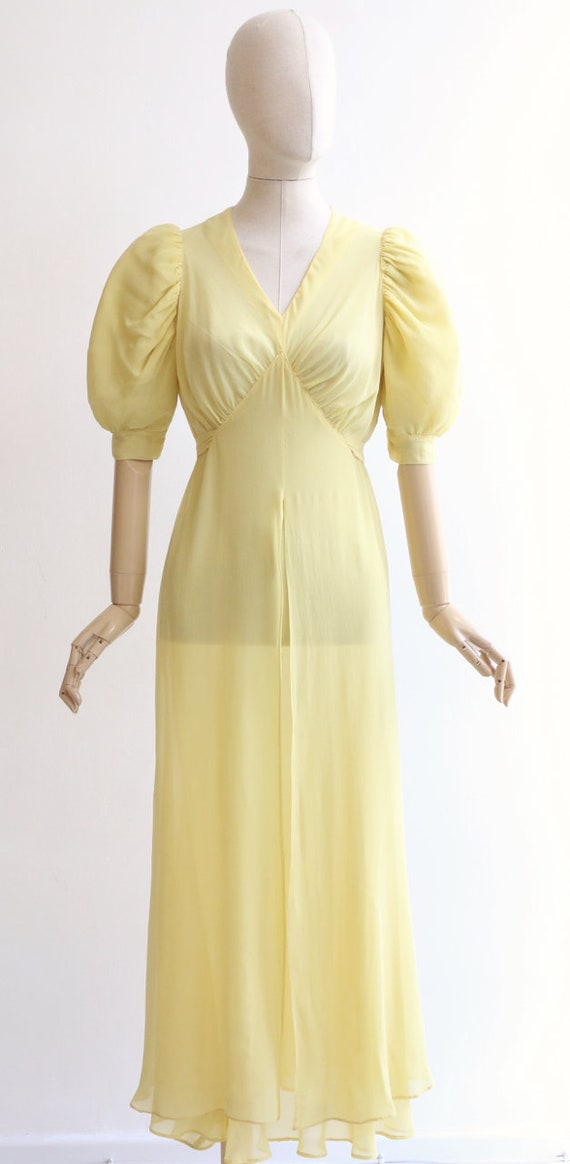 Vintage 1930's dress vintage 1930's silk chiffon … - image 2