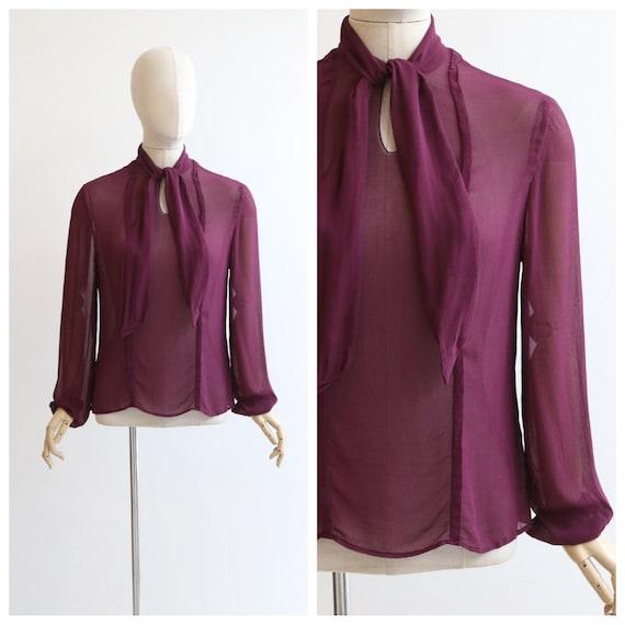 Vintage 1930's blouse orignal 1930's silk chiffon