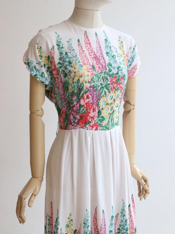 Vintage 1940's dress original 1940's cotton dress… - image 6
