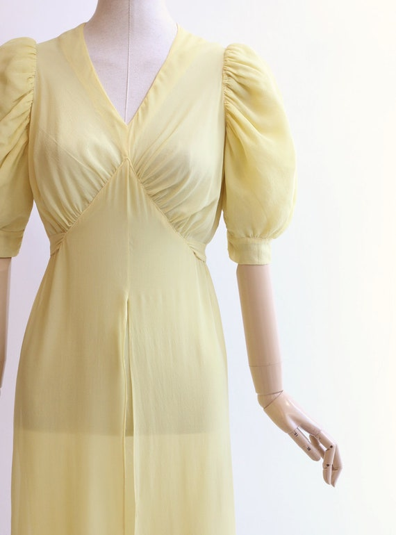Vintage 1930's dress vintage 1930's silk chiffon … - image 4